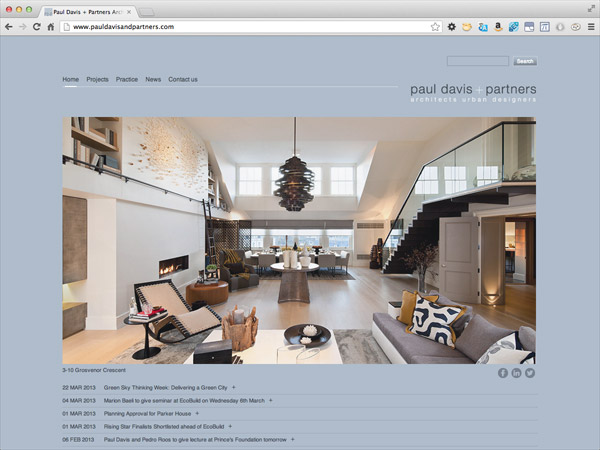 The Paul Davis + Partners home page